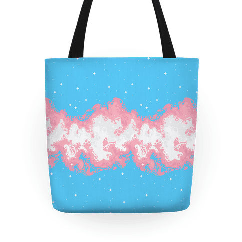 Psychedelic Nebula Trans Flag Tote