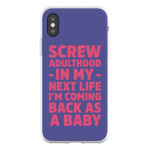 Coming Back as a Baby Phone Flexi-Case