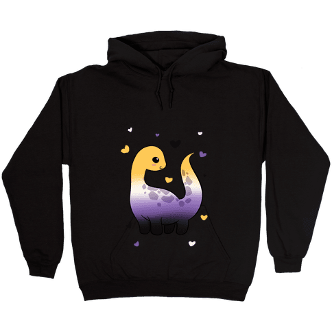 Non-Binary-Dino Hooded Sweatshirt