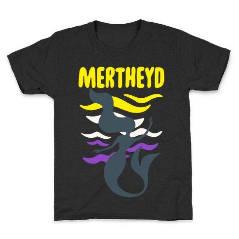 Mertheyd White Print Kids T-Shirt