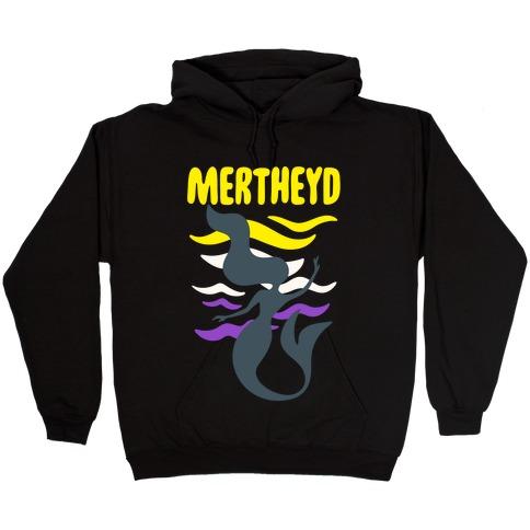 Mertheyd White Print Hooded Sweatshirt