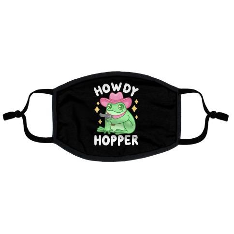 Howdy Hopper Flat Face Mask