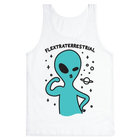 Flextraterrestrial Flexing Alien Tank Top