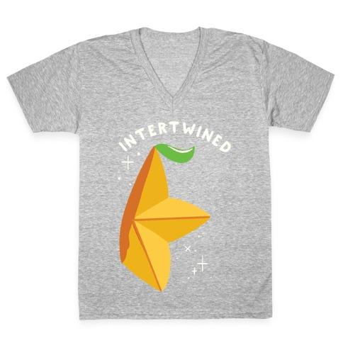 Paopu Fruit Intertwined V-Neck Tee Shirt