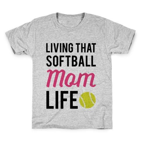 Living That Softball Mom Life T Shirt Lookhuman