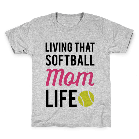 Living That Softball Mom Life Kids T-Shirt