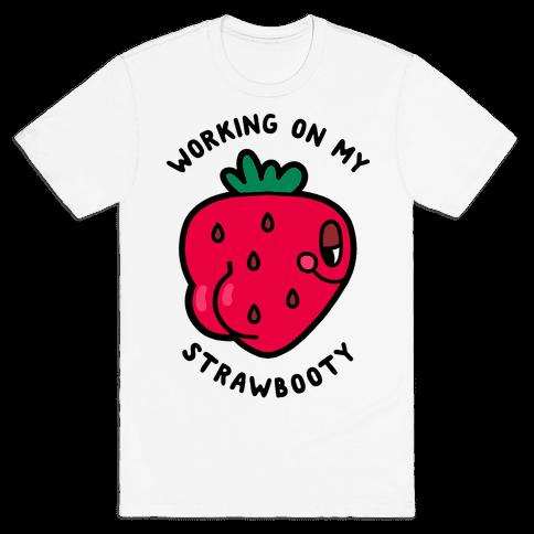 Strawbooty Mens/Unisex T-Shirt