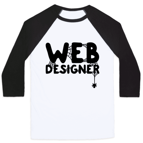 Web Designer Baseball Tee