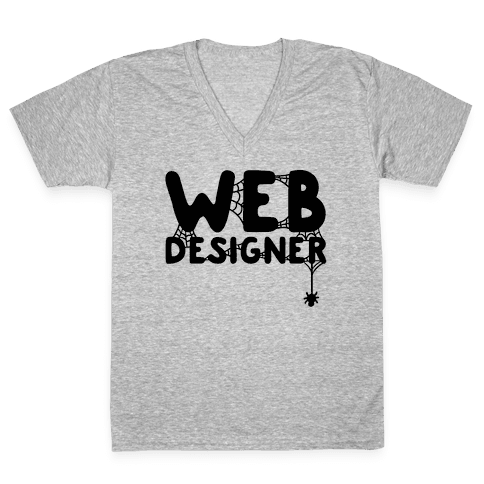 Web Designer V-Neck Tee Shirt