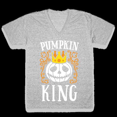 Pumpkin King V-Neck Tee Shirt