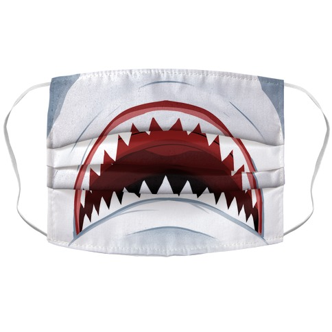 Shark Mouth Accordion Face Mask
