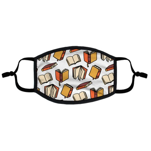 Book Reading Pattern Flat Face Mask
