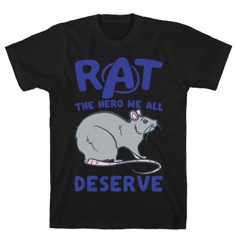 Rat the Hero We All Deserve Parody White Print T-Shirt