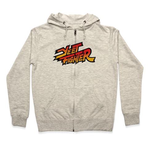 Yeet Fighter Parody Zip Hoodie