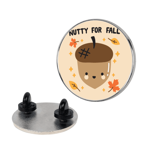 Nutty For Fall Pin