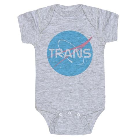 Trans Nasa Baby Onesy