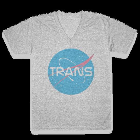 Trans Nasa V-Neck Tee Shirt