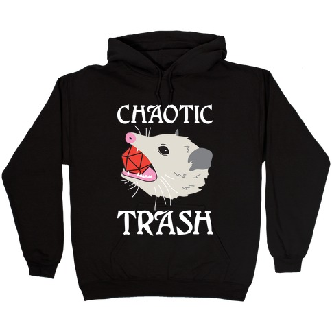 Chaotic Trash (Opossum) Hooded Sweatshirt