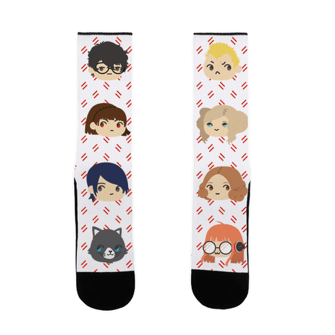 The Phantom Thieves Pattern Sock