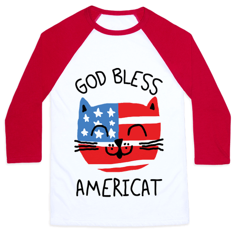 God Bless Americat Baseball Tee