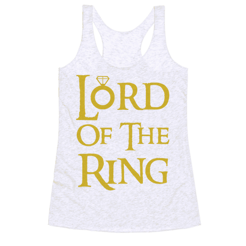 Lord of the Ring Racerback Tank Top