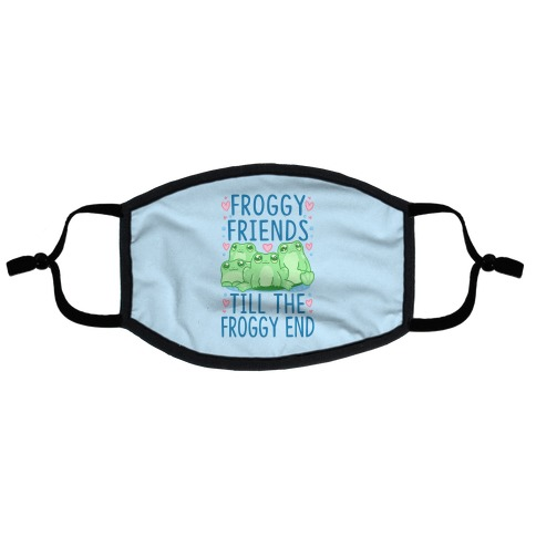 Froggy Friends Till The Froggy End Flat Face Mask