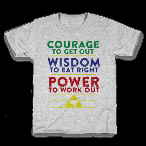 Triforce of Fitness Kids T-Shirt