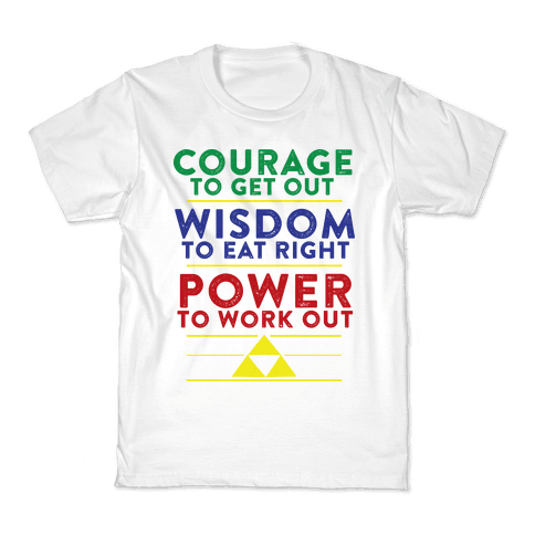 Triforce of Fitness Kids T-Shirt