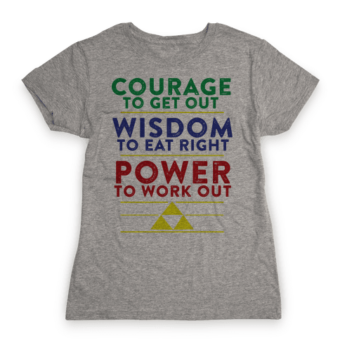 Triforce of Fitness Womens T-Shirt