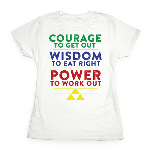 Triforce of Fitness Womens T-Shirt