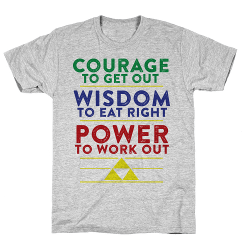 Triforce of Fitness Mens T-Shirt
