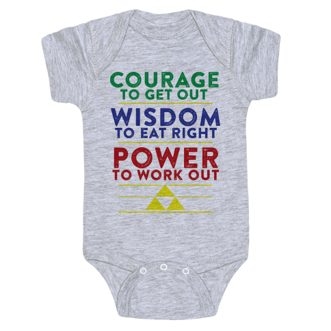 Triforce of Fitness Baby Onesy