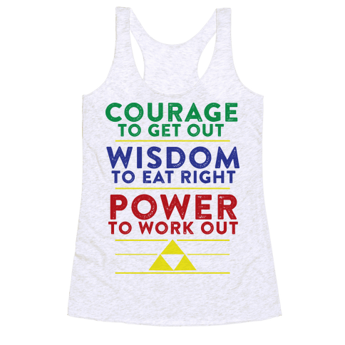 Triforce of Fitness Racerback Tank Top