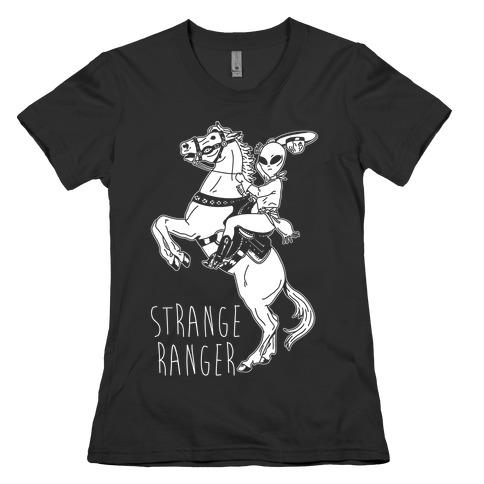 Strange Ranger Cowboy Alien Womens T-Shirt