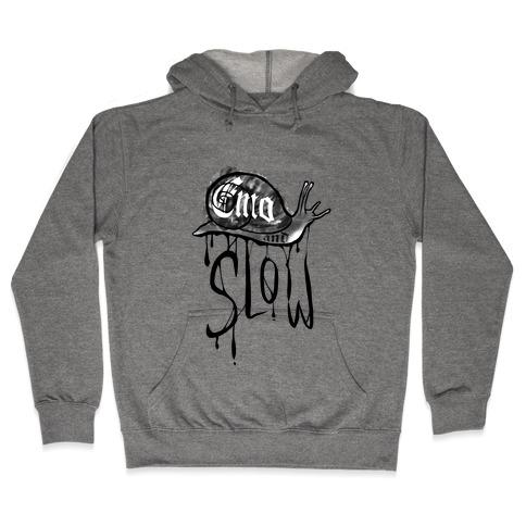Emo and Slow (black)  Hooded Sweatshirt