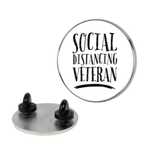 Social Distancing Veteran Pin