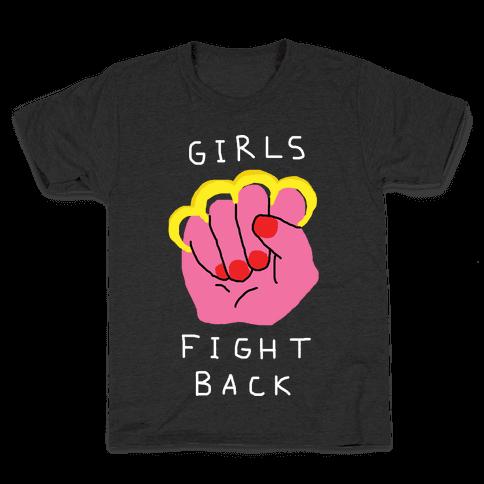 Girls Fight Back Kids T-Shirt