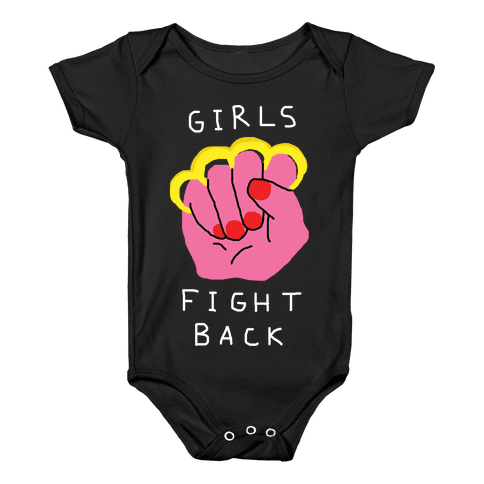 Girls Fight Back Baby Onesy