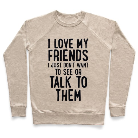 I Love My Friends, I Just Don't Want To See Or Talk To Them Pullover