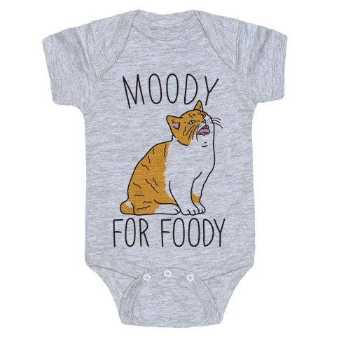 Moody For Foody Cat Baby Onesy