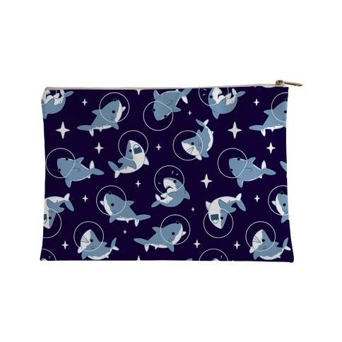 Space Shark Pattern Accessory Bag