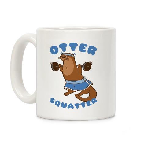 Otter Squatter White Print Coffee Mug