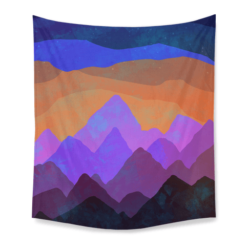 Abstract Mountain Sunset Tapestry