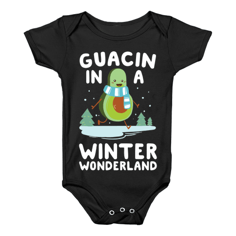 Guacin' In a Winter Wonderland Baby Onesy