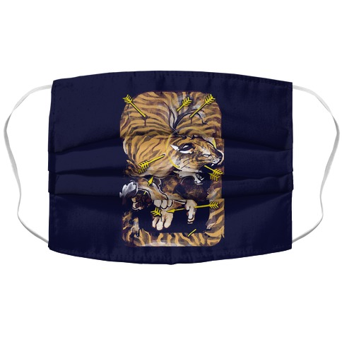 Saint Sebastian Tiger Accordion Face Mask