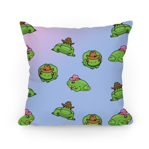 Rootin' Tootin' Ribbit Pattern Pillow
