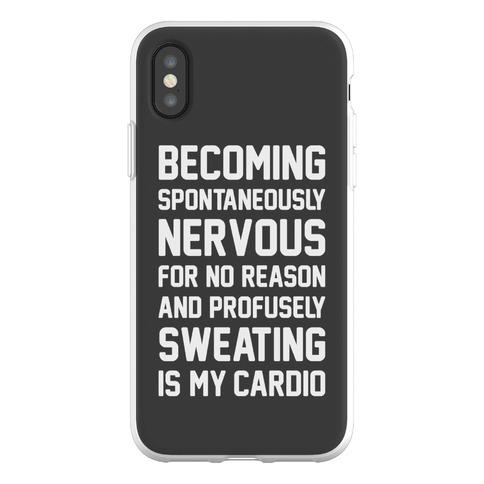 Nervous Sweating Is My Cardio Parody Phone Flexi-Case