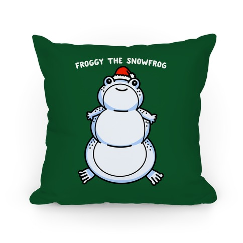 Froggy The Snowfrog Pillow
