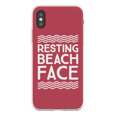 Resting Beach Face Phone Flexi-Case