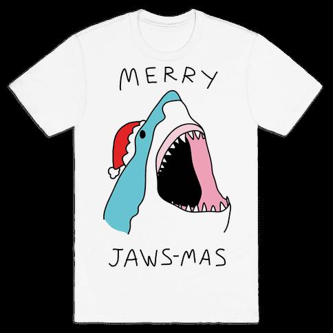 Merry Jaws-mas Christmas Mens T-Shirt